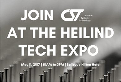 Sign for CST electronic contract manufacturing services at Heiland Tech Expo